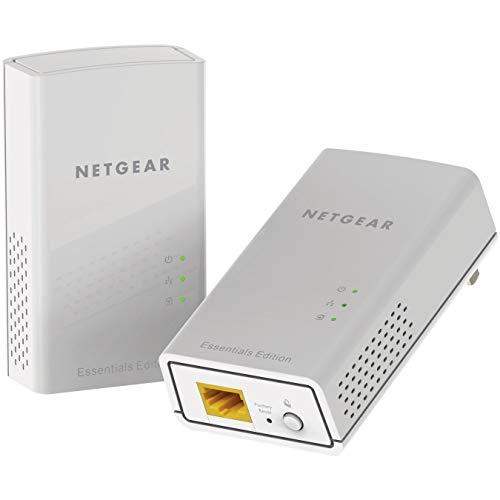 Netgear PL1000 PowerLINE Set (2x Adapter mit je einem GB-LAN-Port, Geschwindigkeit bis zu 1000 MBit/s, WiFi PowerLAN Set für Internet über de Steckdose, Plug-and-Play, PLC Netzwerkadapter)