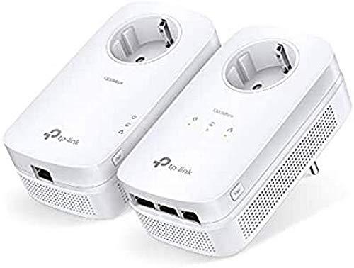 TP-Link AV1300 – Gigabit Passthrough Powerline Starter Kit – Brücke – GigE, HomePlug AV (HPAV), HomePlug AV (HPAV) 2.0, IEEE 1901 – Wandanschluss